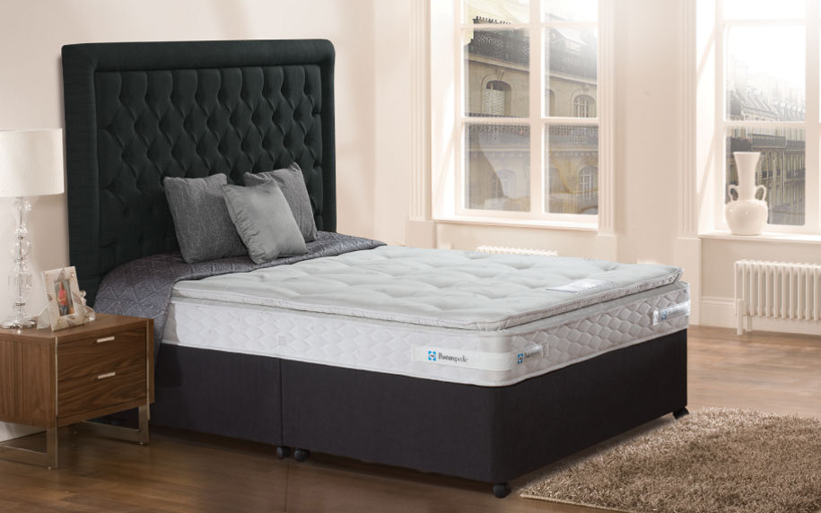 The Sealy Pillow Honister Contract Divan Bed includes a sumptuously comfortable pillow topped mattress