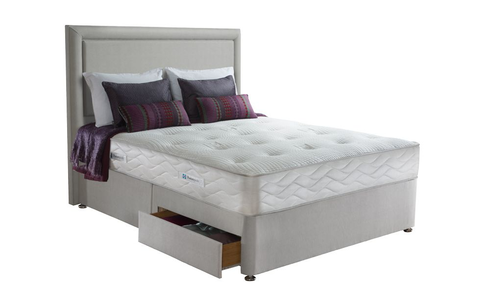 best sneakers c63b9 d1b85 Sealy Posturepedic Jubilee Memory Ortho Divan Bed, Single, No Storage, No  Headboard Required, Fawn