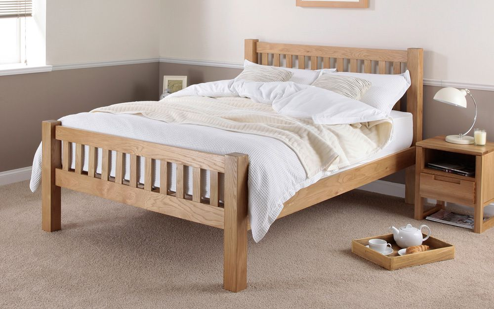 silentnight ayton solid oak wooden bed frame mattress online. Black Bedroom Furniture Sets. Home Design Ideas