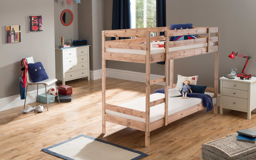 Silentnight bunk bed in natural pine
