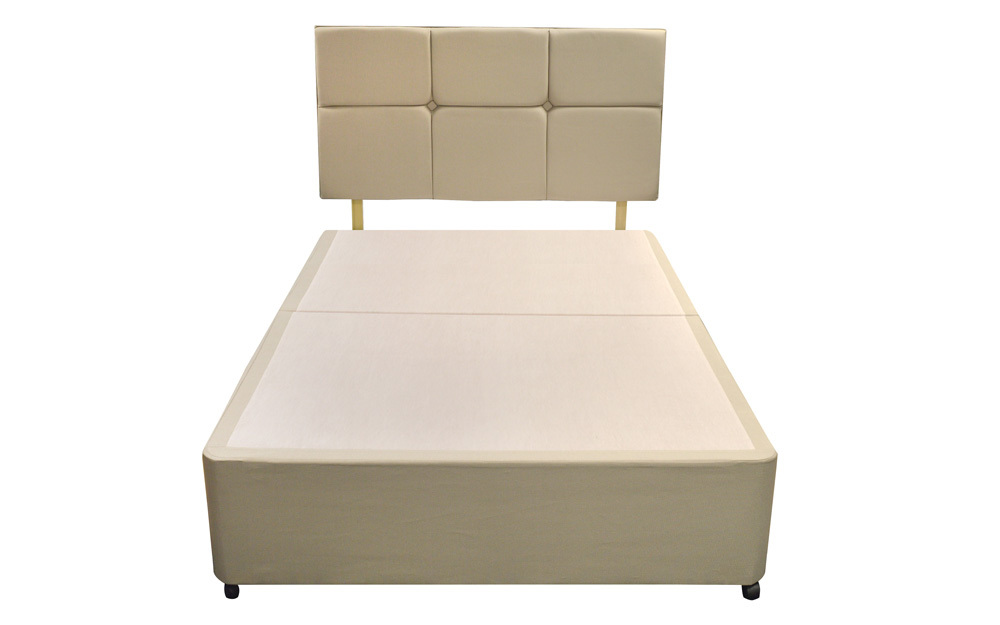 The Silentnight Sandstone Divan Base and headboard: an example of a platform top divan base
