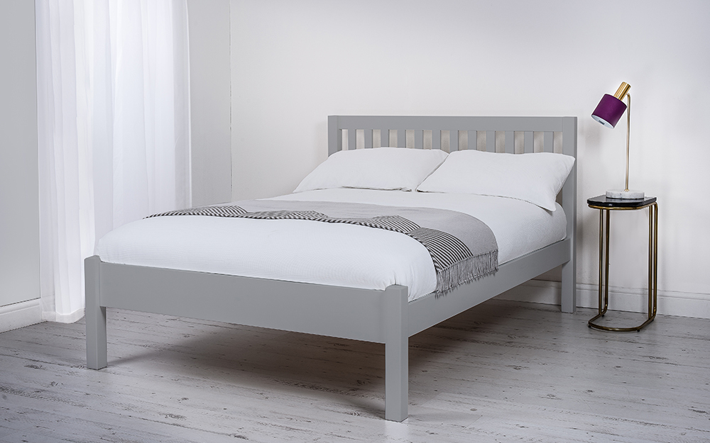 Silentnight Hayes Grey Wooden Bed Frame, Single