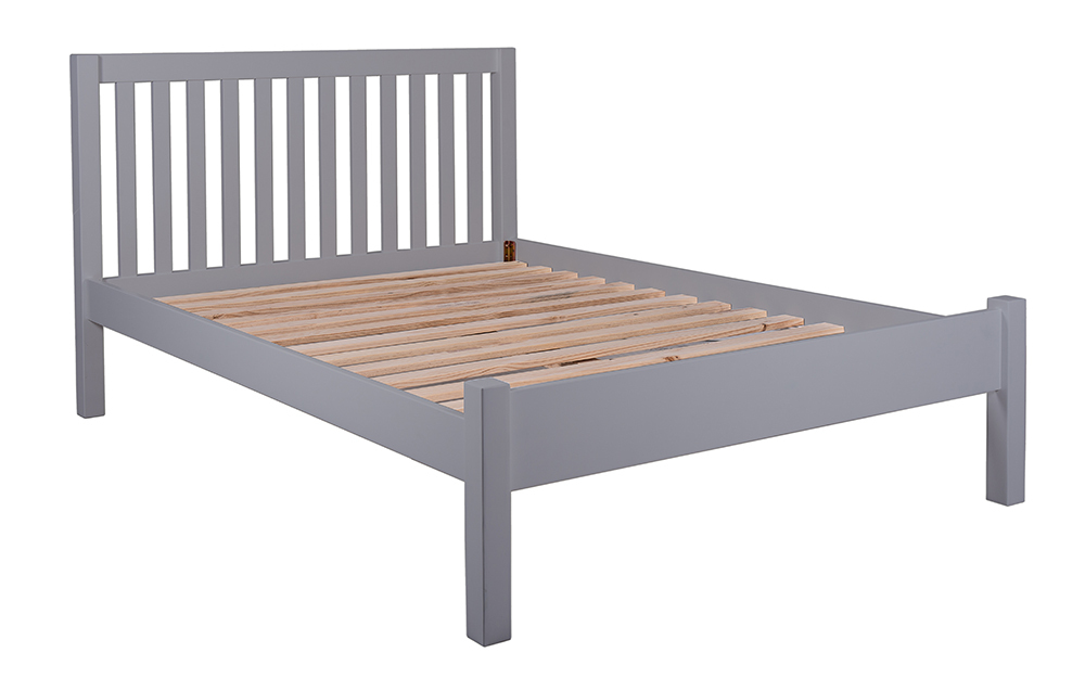 The Silentnight Hayes Grey Wooden Bed Frame