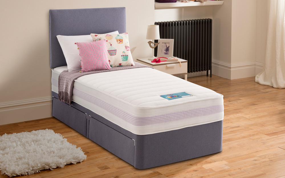 Silentnight Moon Dreamer Healthy Growth Divan Lilac Mattress Online