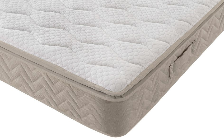 Silentnight Helsinki Miracoil Geltex Pillow Top Mattress, Single