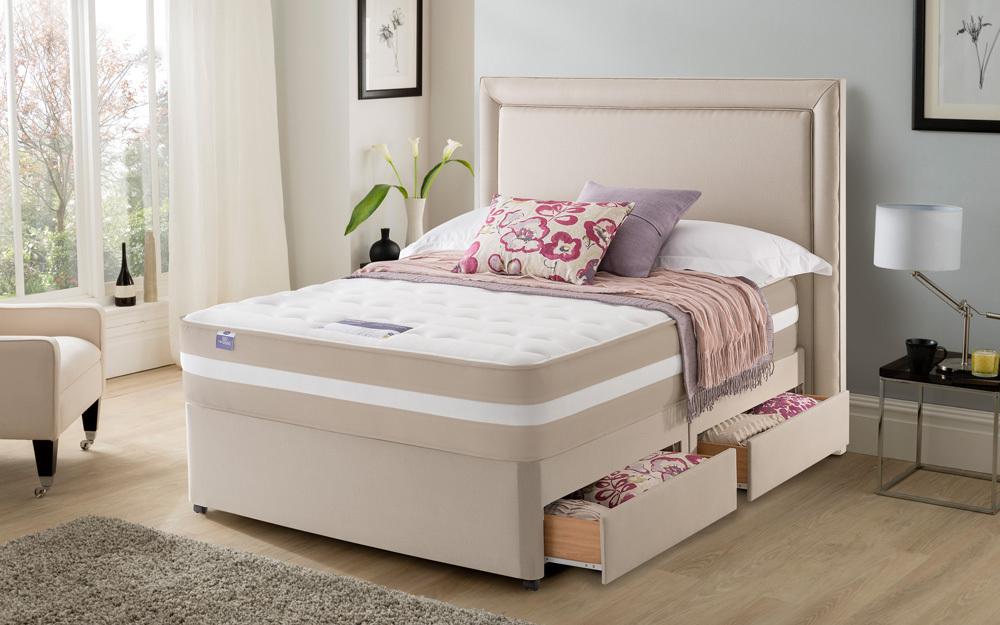 silentnight london 2000 mirapocket memory mattress. Black Bedroom Furniture Sets. Home Design Ideas