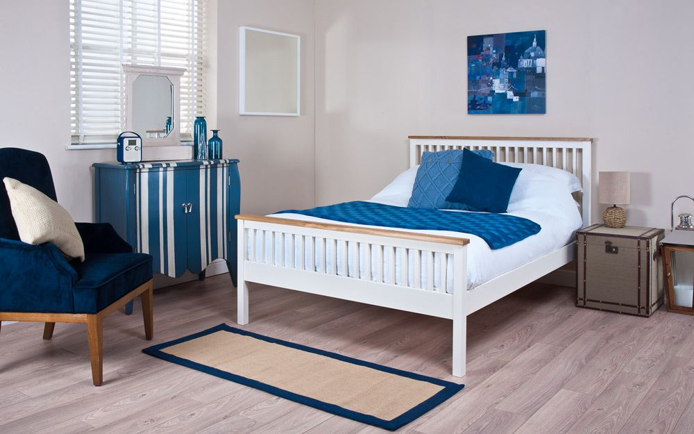 The Silentnight Minerve Wooden Bed Frame features a slatted headboard and foot end
