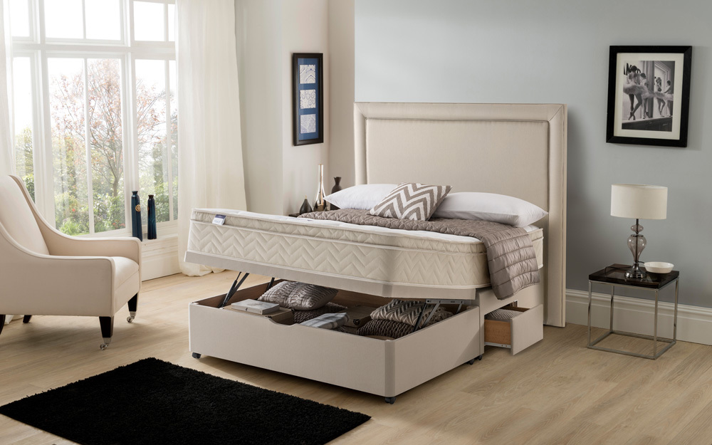 Silentnight Oslo Miracoil Memory Cushion Top Divan Mattress Online