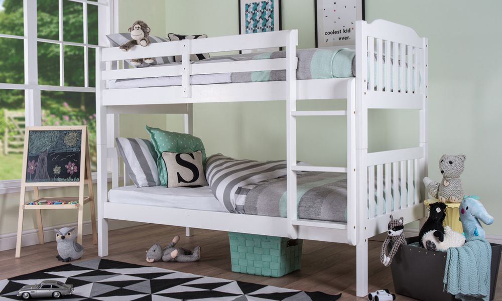 Silentnight Pippin Bunk Bed - White, Single