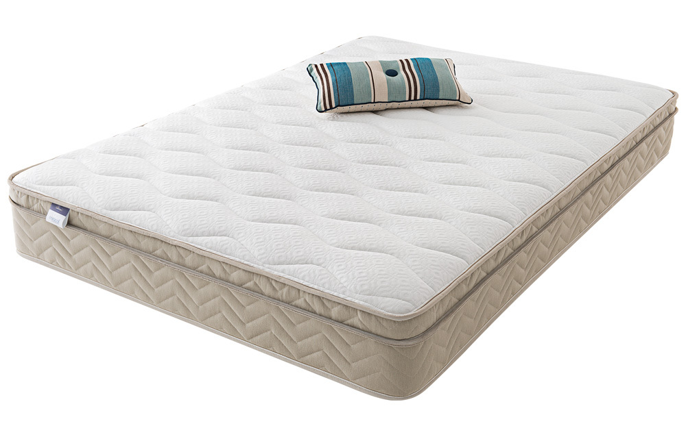 The Silentnight Rio Miracoil Cushion Top is a medium to firm standard sprung mattress