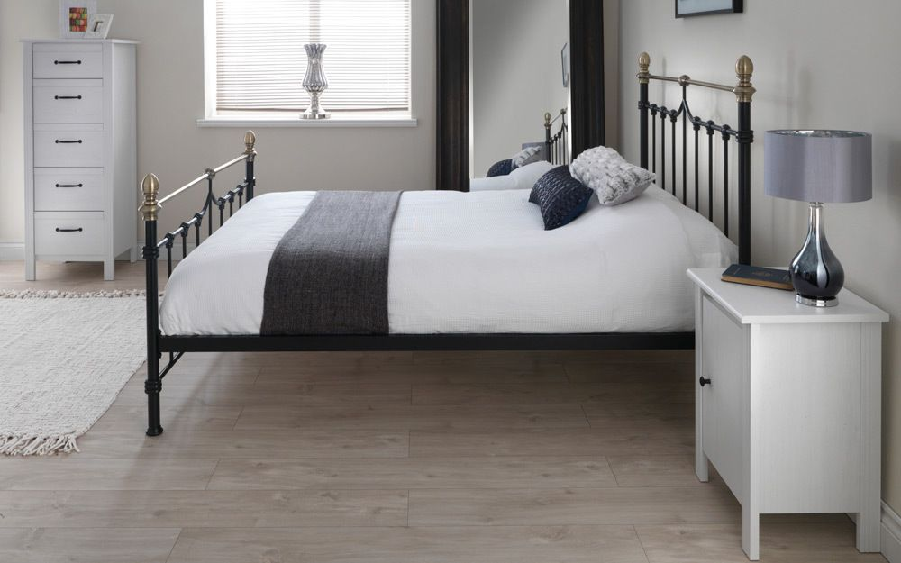 Silentnight Sydney Metal Black Bed Frame - Mattress Online