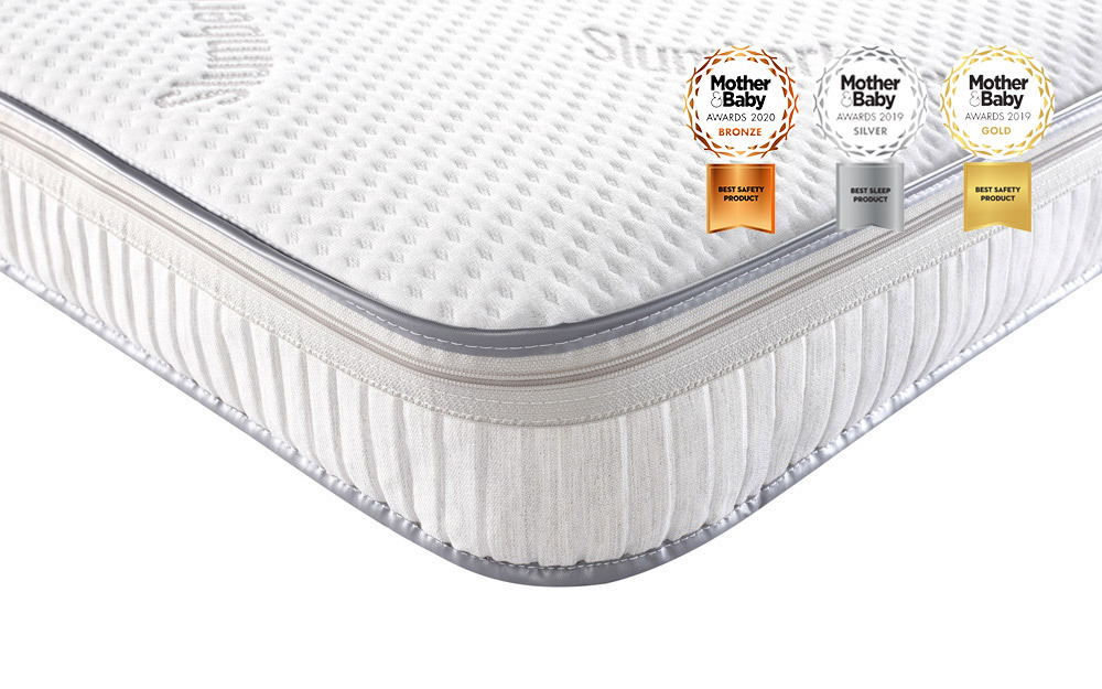 The Slumberland Luxury Pocket Sprung Cot Bed Mattress offers great support and durability