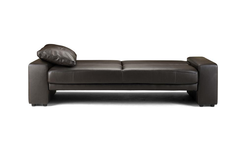 Pleasant Supra Faux Leather Sofa Bed 2 Seater Sofa Bed Black Lamtechconsult Wood Chair Design Ideas Lamtechconsultcom