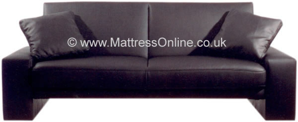 Supra Faux Leather Sofa Bed 2 Seater Sofa Bed Black