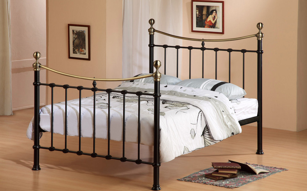 Time Living Elizabeth Metal Bed Frame Mattress Online
