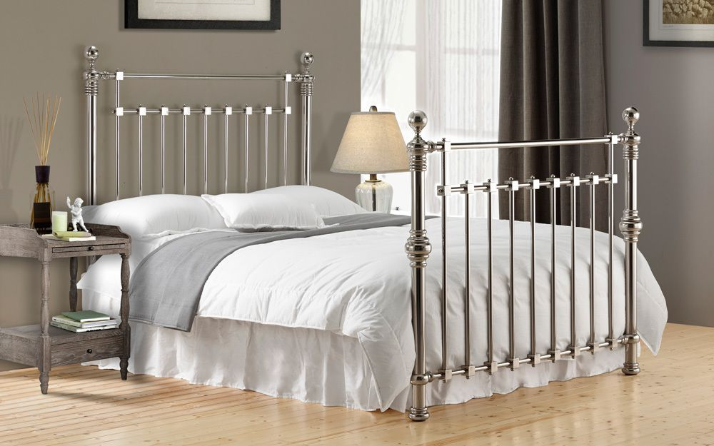 Time Living Edward Metal Bed Frame, Double