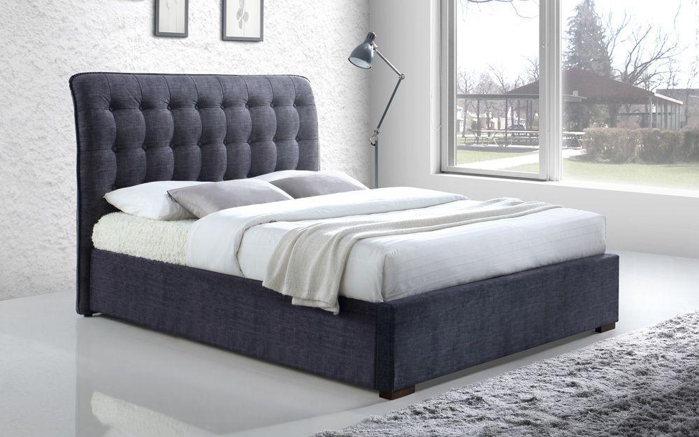 size 40 6e0dd fe80d Time Living Hamilton Fabric Bed Frame, Double, Dark Grey