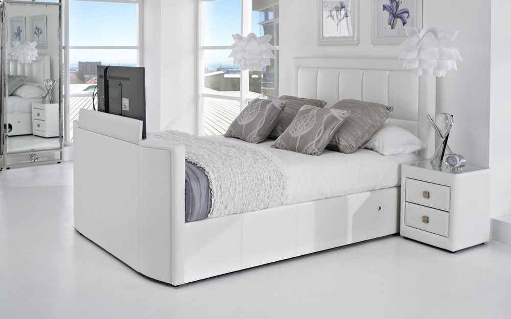 Grey Tv Bed King Size