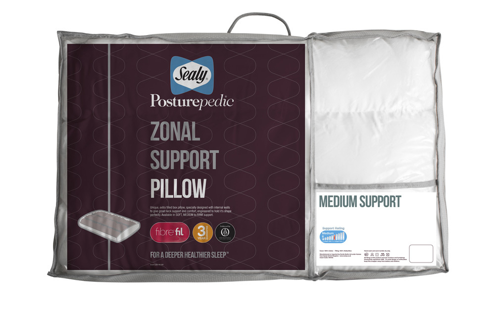 sealy posturepedic zonal support pillow standard pillow. Black Bedroom Furniture Sets. Home Design Ideas