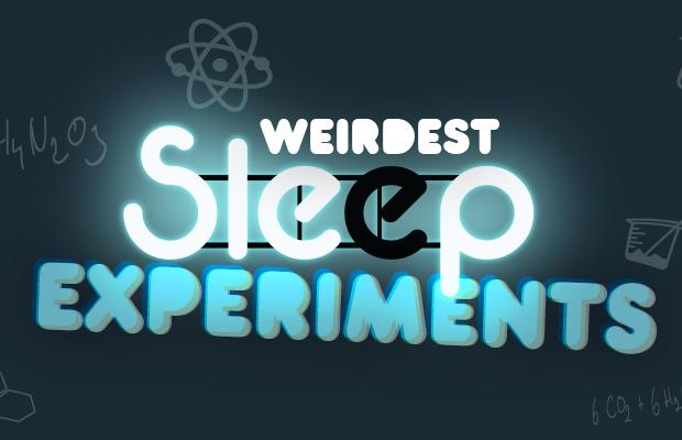 Weirdest Sleep Experiments Infographic