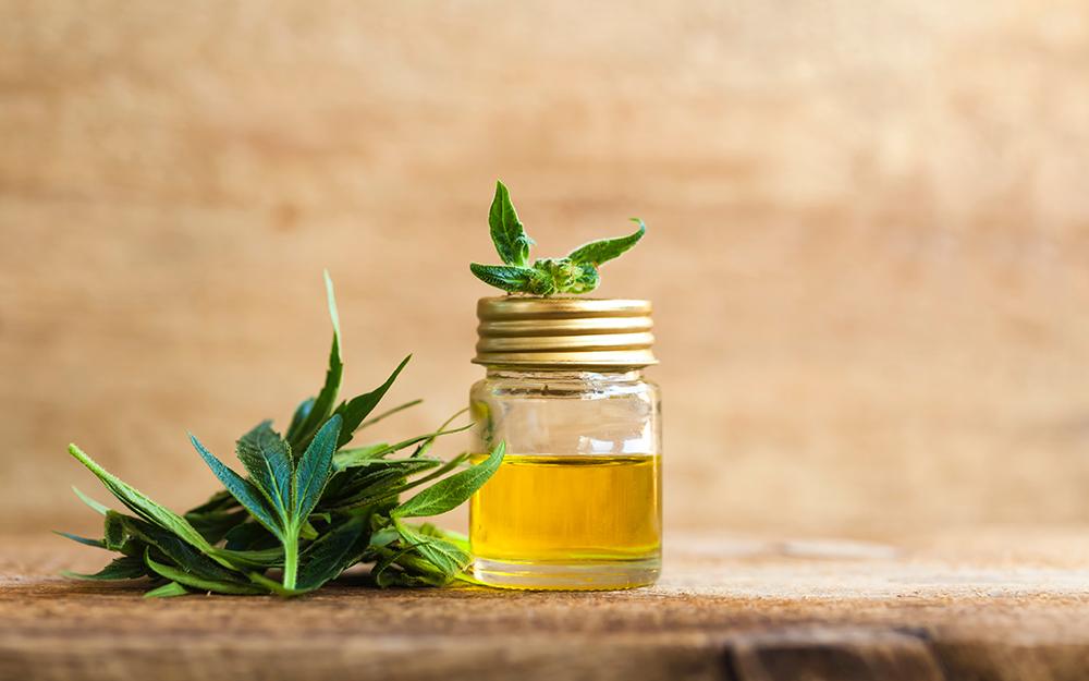 CBD oil in a jar