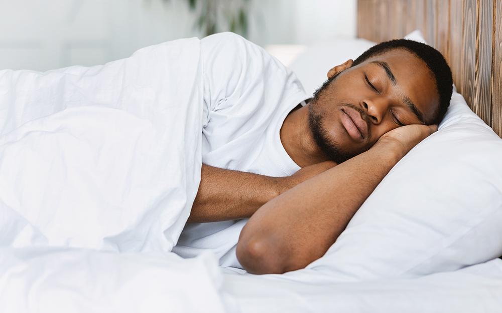 Man sleeping deeply