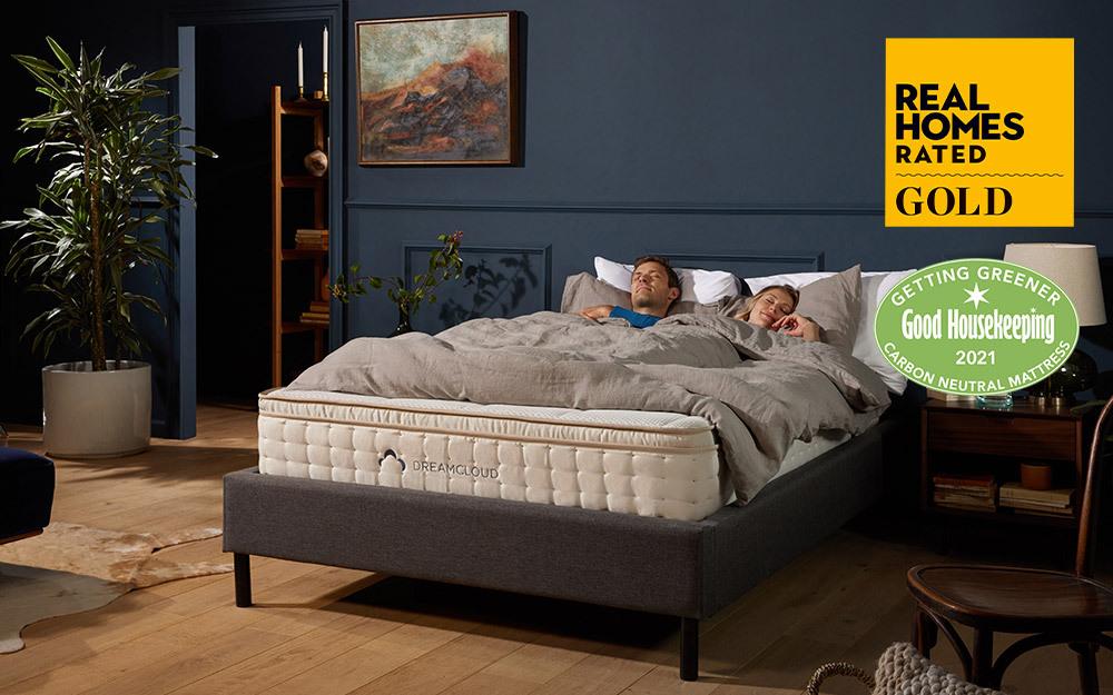 Couple sleeping on a DreamCloud mattress